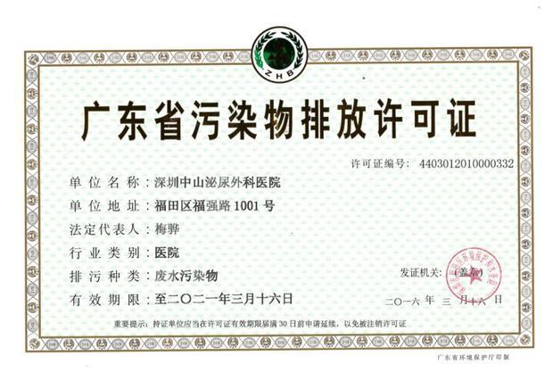 我院污染物排放许可证及相关内容展示